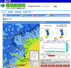 横浜市風況マップ